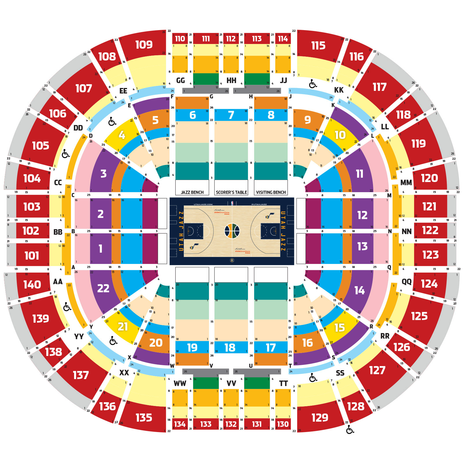 Energy Solutions Arena Seating Map Energy Solutions Arena
